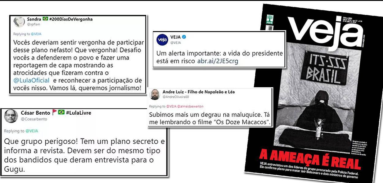 esencia Cereza Aguanieve  Veja vira piada ao publicar capa grotesca sobre terror contra Bolsonaro -  Brasil 247