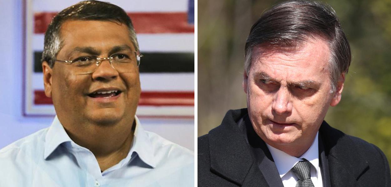 Flavio Dino e Jair Bolsonaro