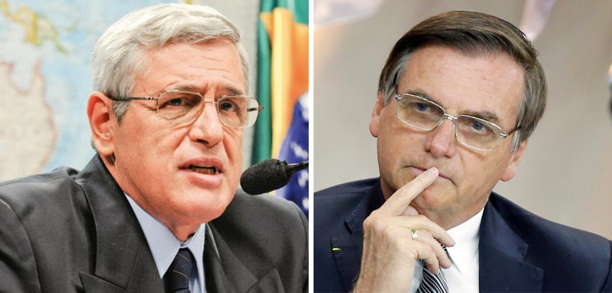 General Luiz Rocha Paiva e Jair Bolsonaro