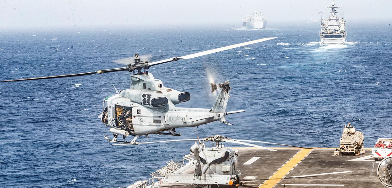 Navios e aeronaves militares dos EUA no Mar Arábico