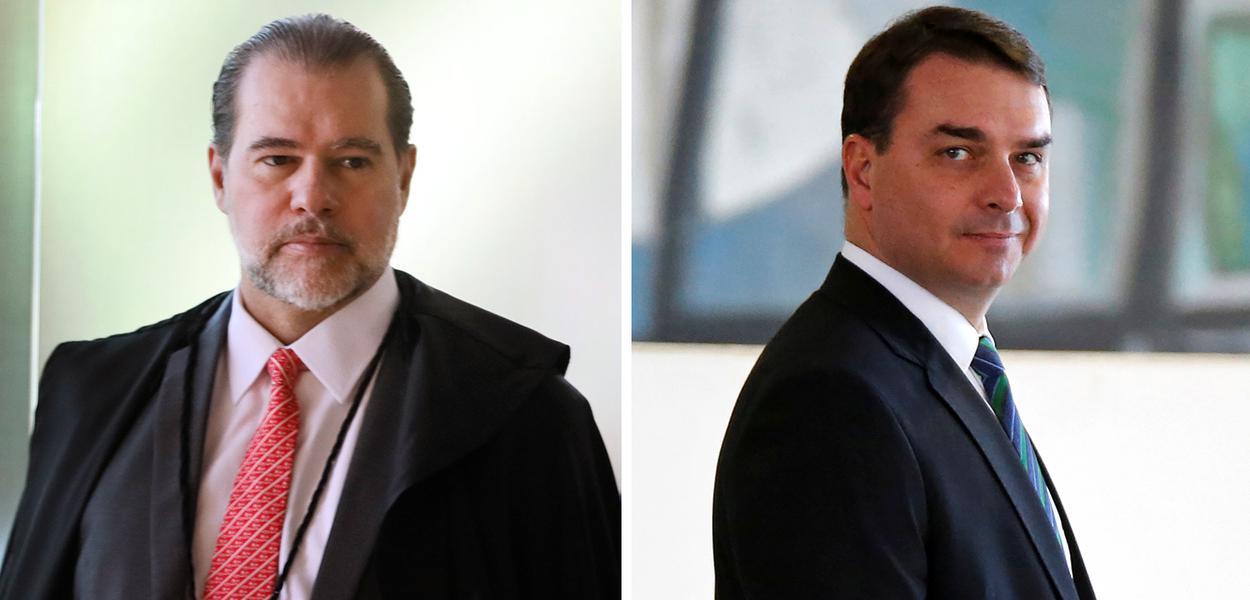Dias Toffoli e Flavio Bolsonaro