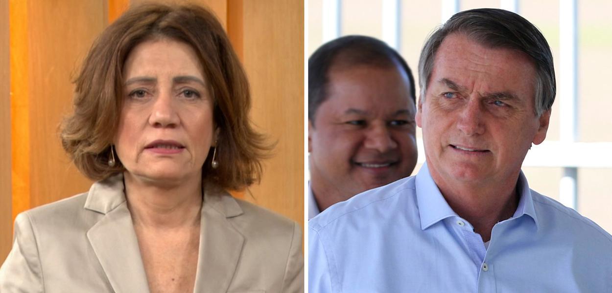 Miriam Leitão e Jair Bolsonaro