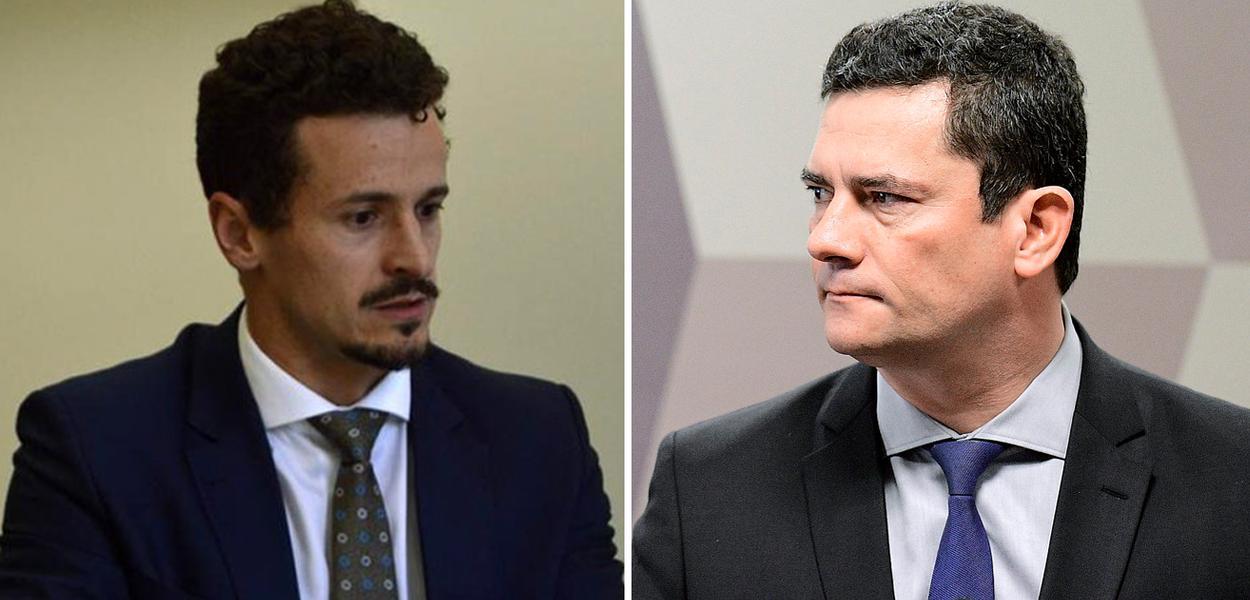 Roberson Pozzobon e Sergio Moro