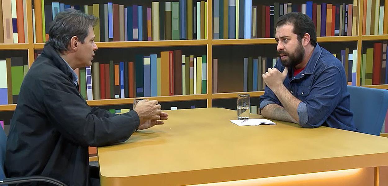 Fernando Haddad e Guilherme Boulos