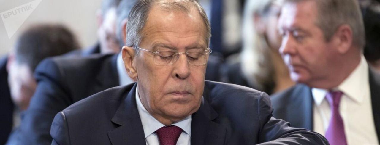 Ministro das Relações Exteriores da Rússia, Sergei Lavrov.