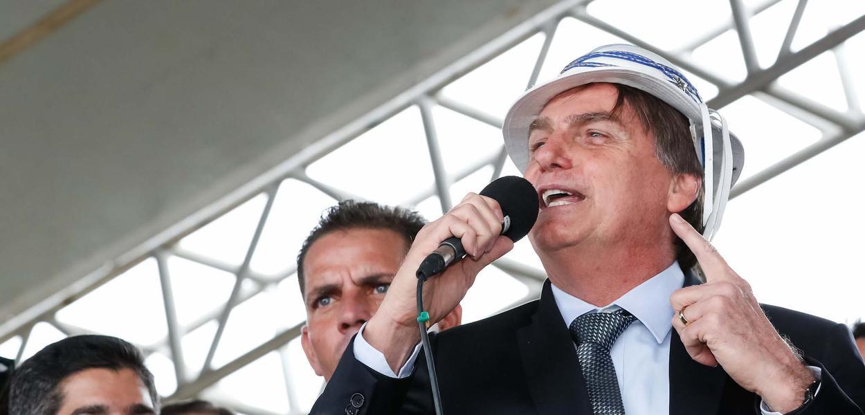 Presidente da República, Jair Bolsonaro fala ao povo.