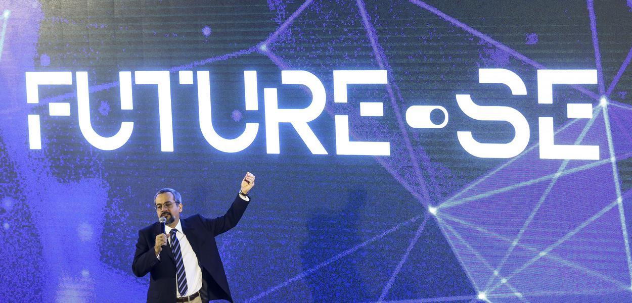 """O ministro da Educação, Abraham Weintraub, durante apresentação do programa """"Future-se"""""""