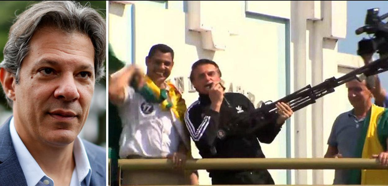 Fernando Haddad e Jair Bolsonaro.