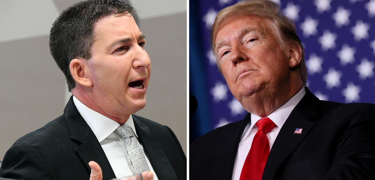Glenn Greenwald e Donald Trump