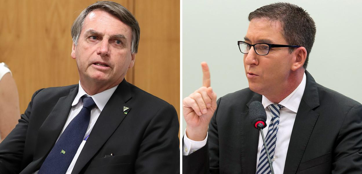 Jair Bolsonaro e Glenn Greenwald