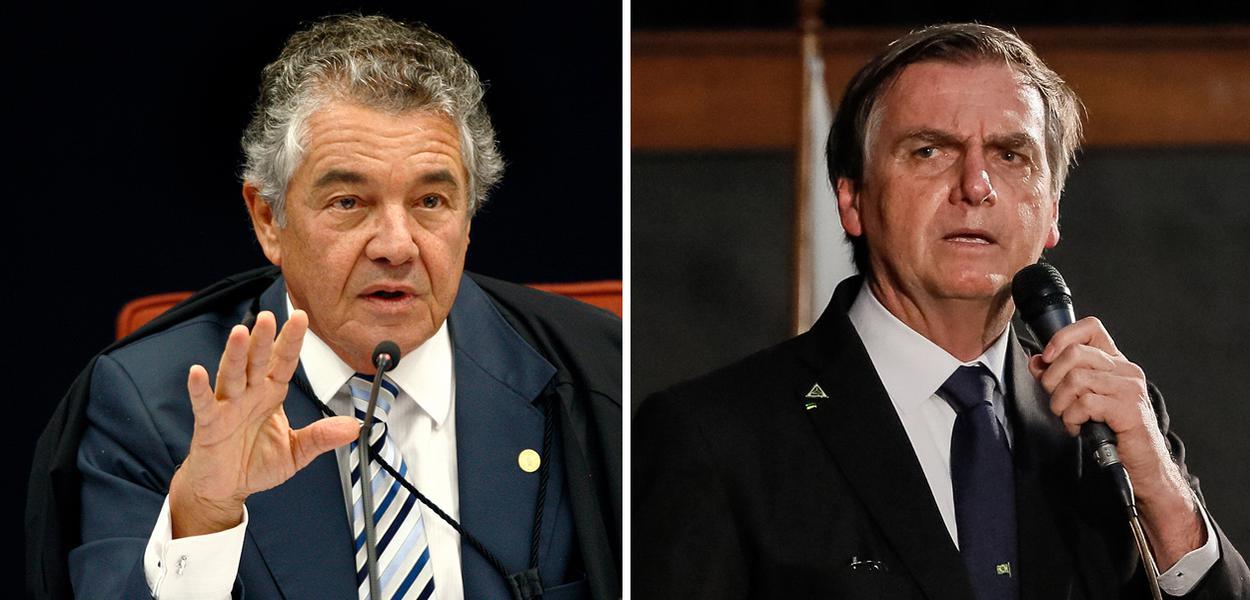 Marco Aurélio Mello e Jair Bolsonaro