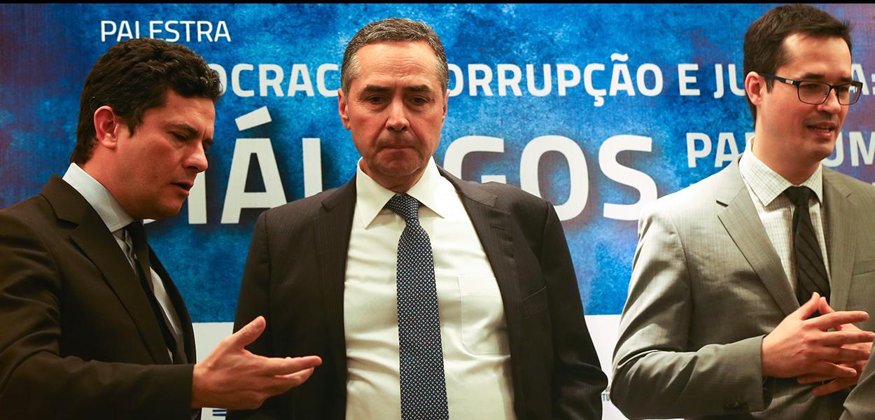 Brasília - Sérgio Moro, Luís Roberto Barroso e Deltan Dallagnol