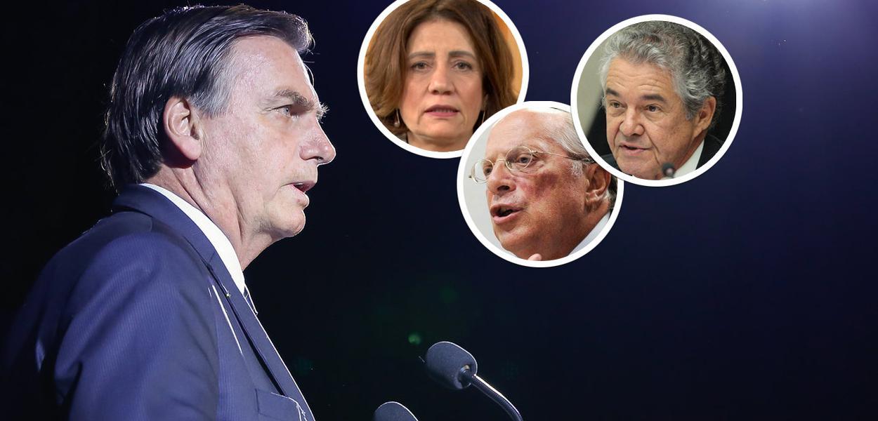 Jair Bolsonaro, Miriam Leitão, Miguel Reale Jr. e Marco Aurélio