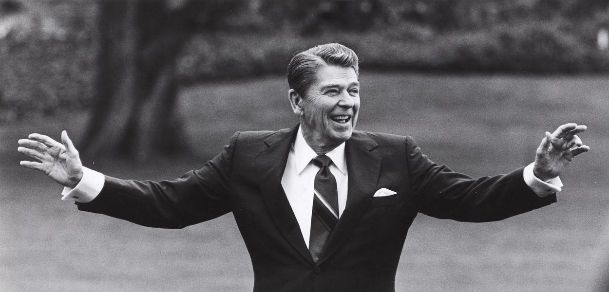 Ex-presidente dos Estados Unidos, Ronald Reagan.