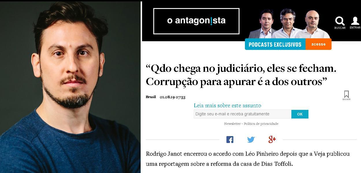Leandro Demori do Intercept Brasil e site O Antagonista