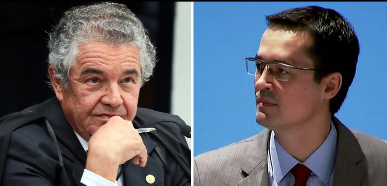 Ministro do STF Marco Aurélio Mello e  procurador da Lava Jato Deltan Dallagnol.