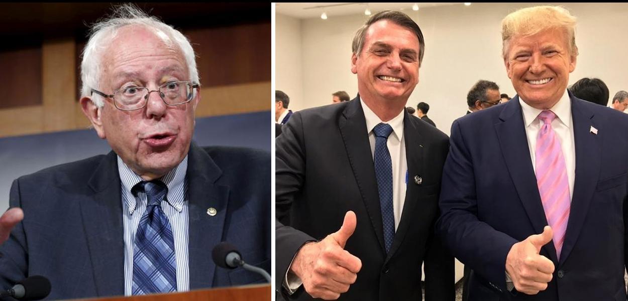 Bernie Sanders, Jair Bolsonaro e Donald Trump.