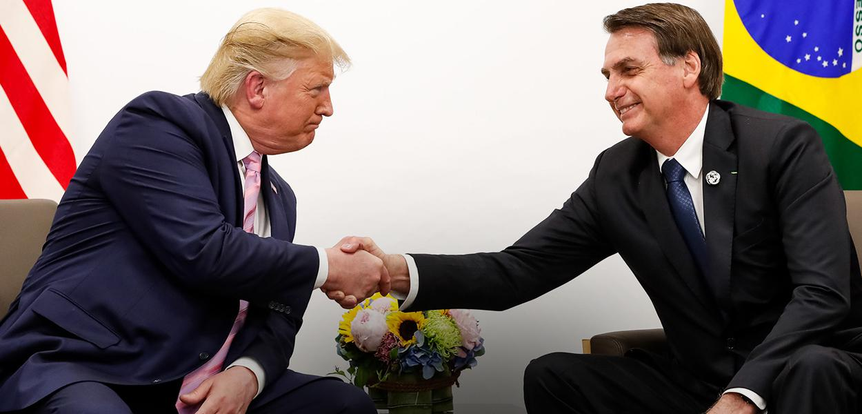 Jair Bolsonaro, durante Reunião com Donald J. Trump