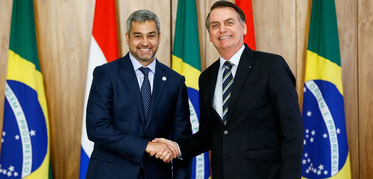 Jair Bolsonaro e o Presidente da República do Paraguai, Mario Abdo Benítez.