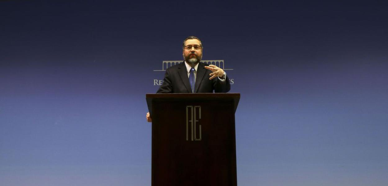 Brasilia - Ministro das Relações Exteriores, Ernesto Araújo.