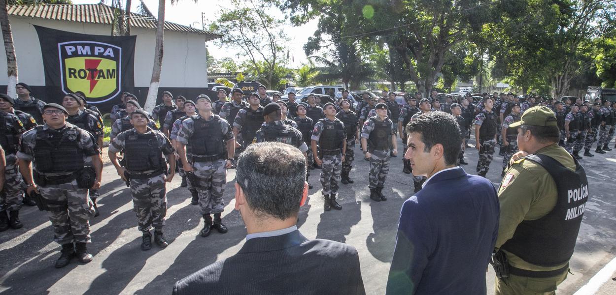 Governador do Pará, Helder Barbalho, e Rotam.
