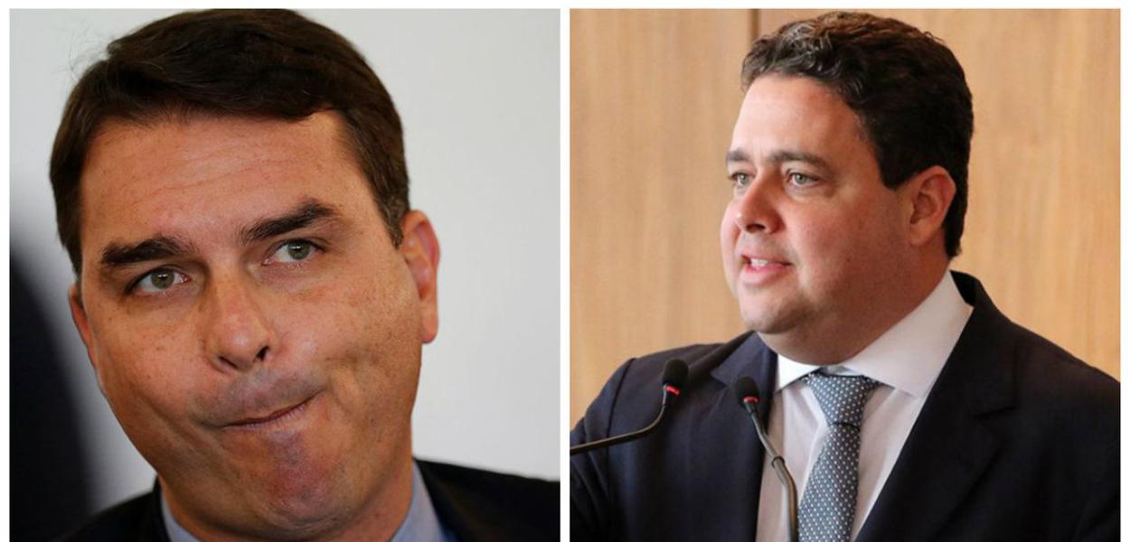 Flavio Bolsonaro e Felipe Santa Cruz