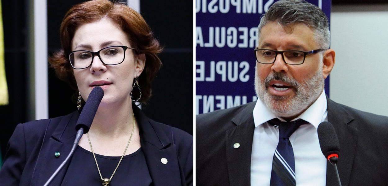 Carla Zambelli e Alexandre Frota