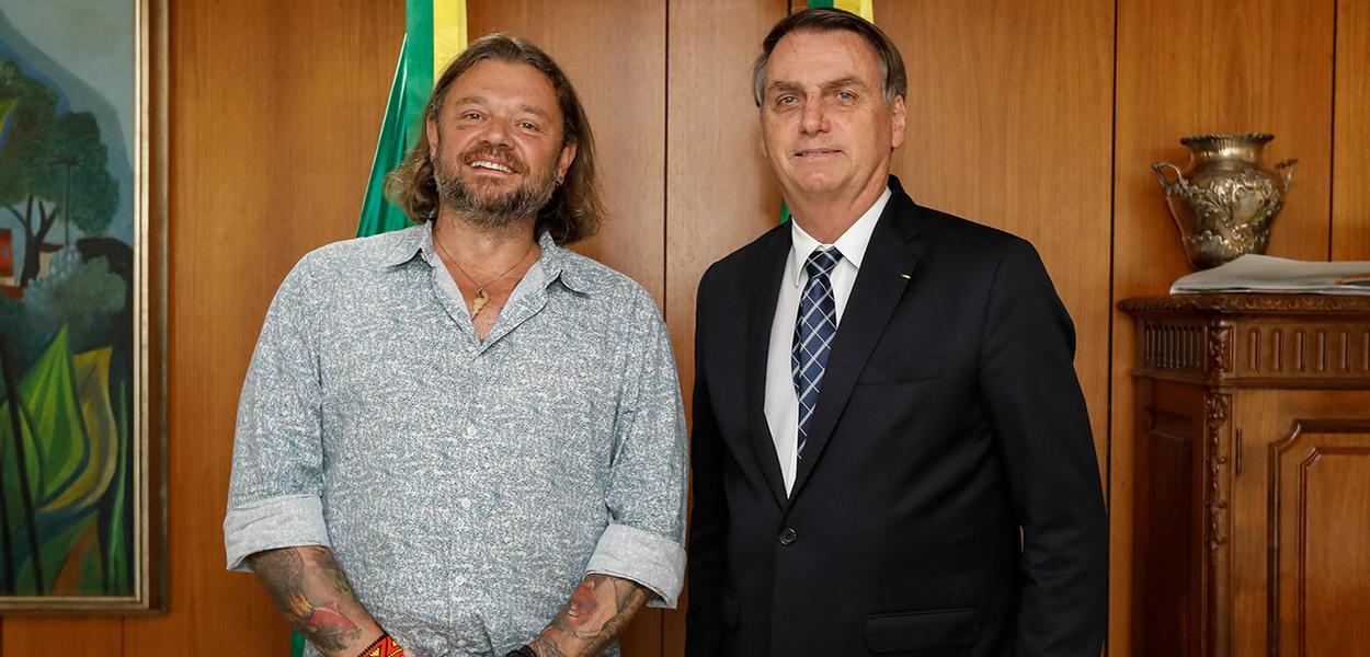 Richard Rasmussen e Jair Bolsonaro