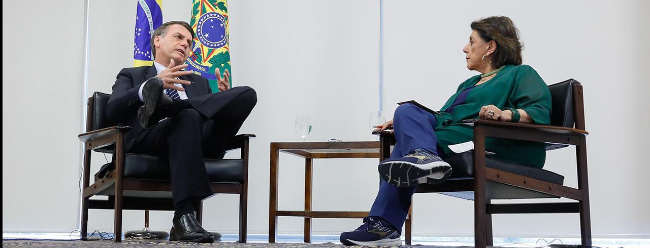Jair Bolsonaro e Leda Nagle