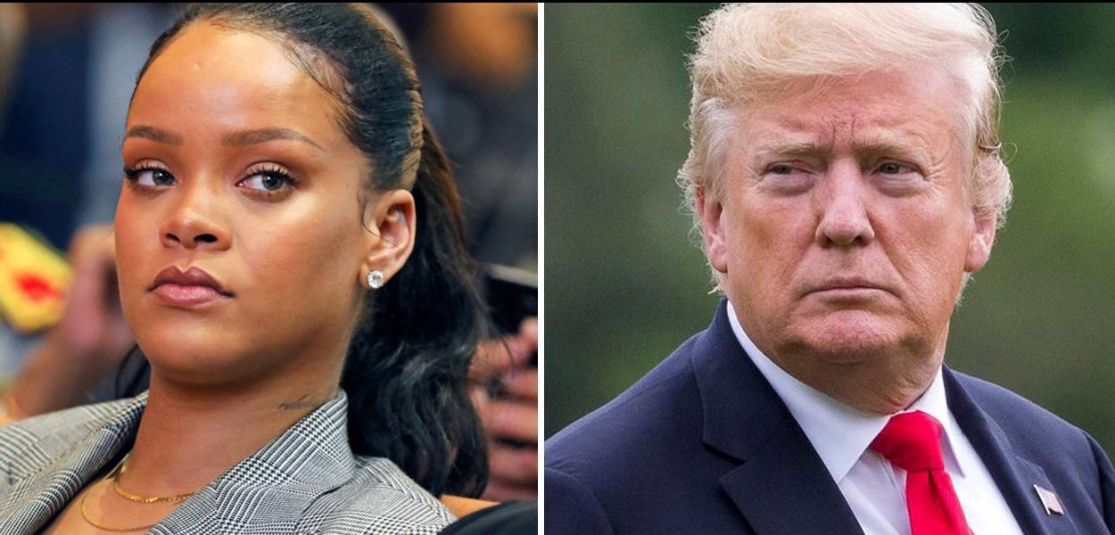 Cantora Rihanna e Donald Trump