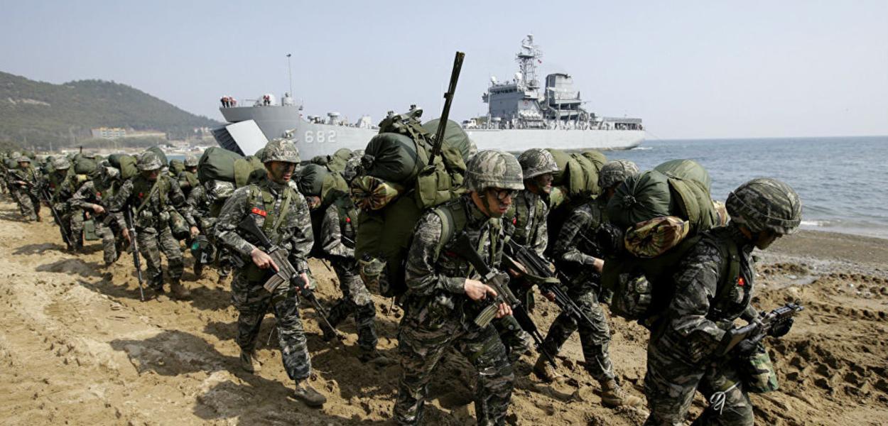 Manobras militares EUA-Coreia do Sul