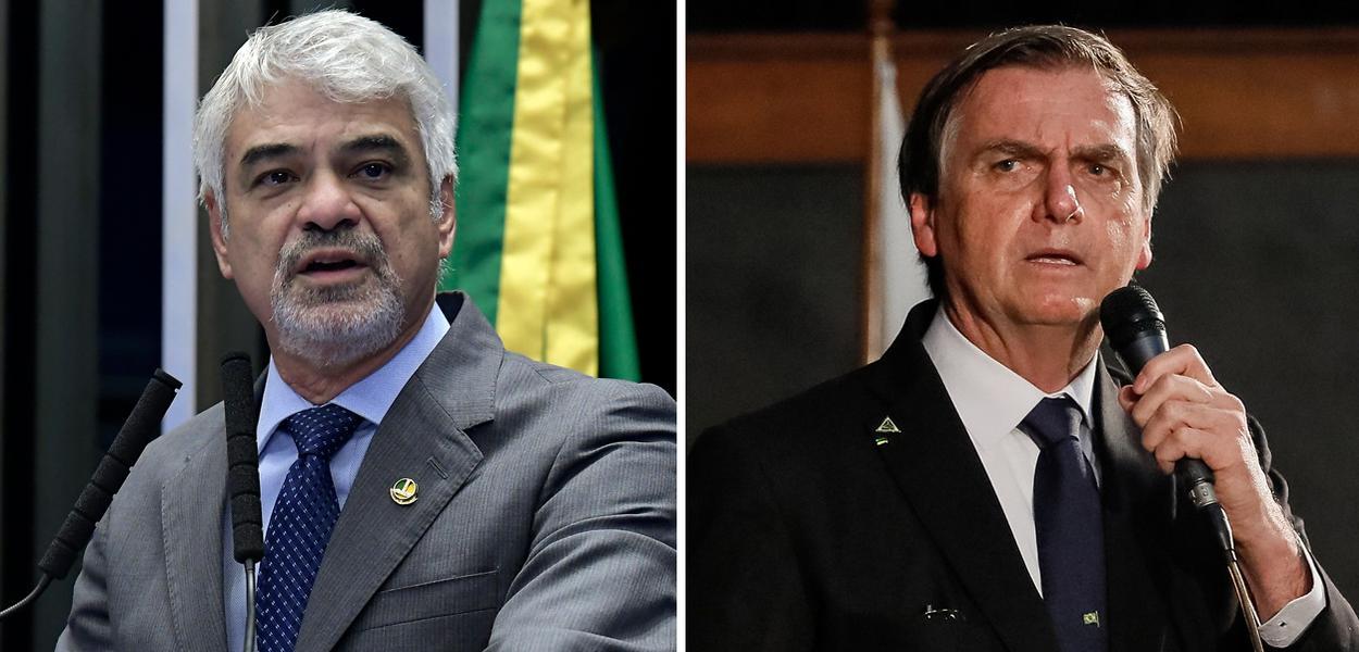 Humberto Costa e Jair Bolsonaro