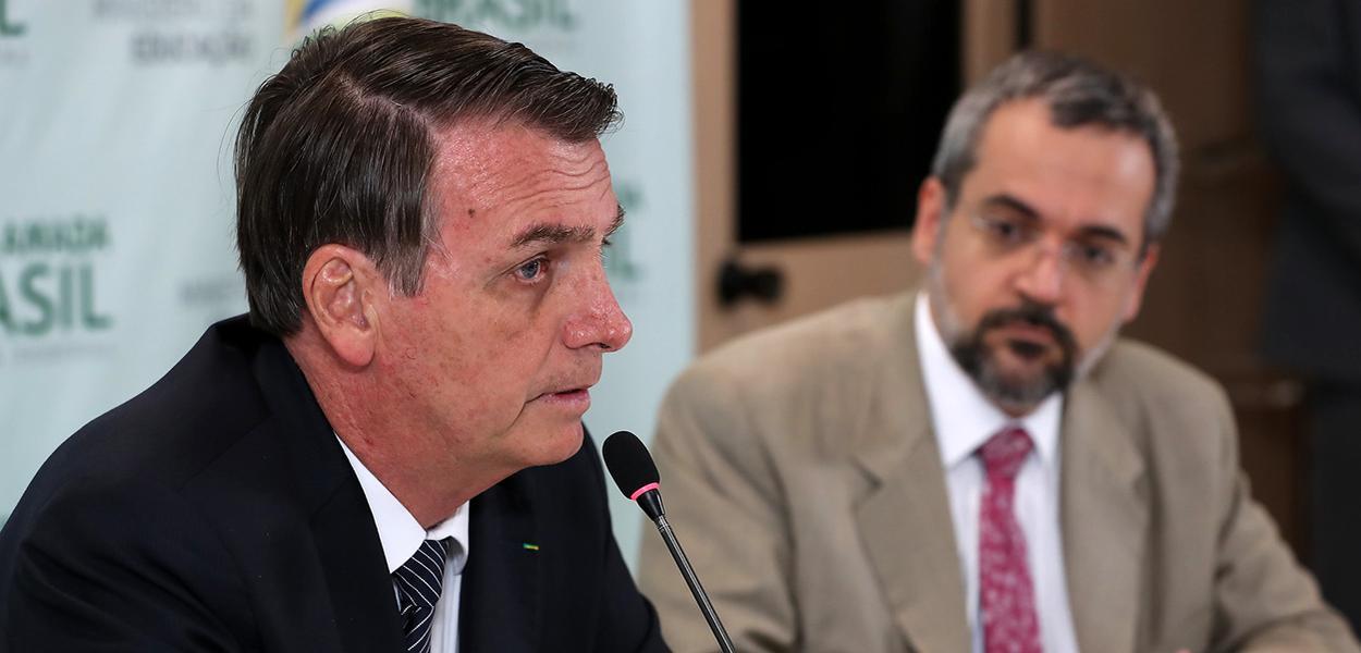 Jair Bolsonaro durante Reunião com Abraham Weintraub