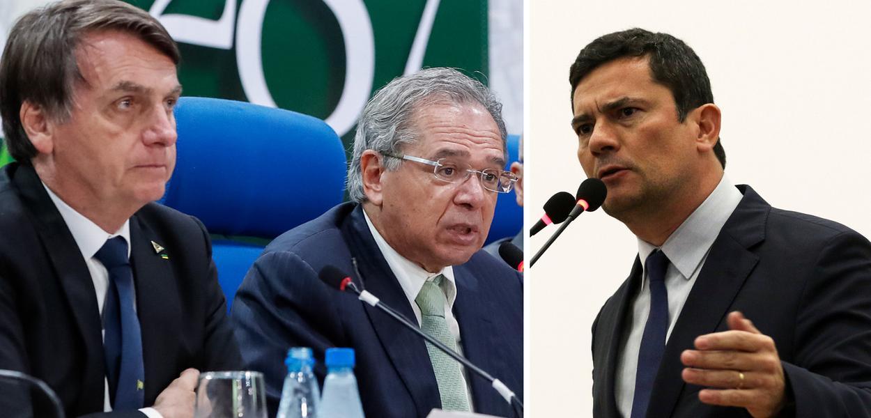 Jair Bolsonaro, Paulo Guedes e Sergio Moro