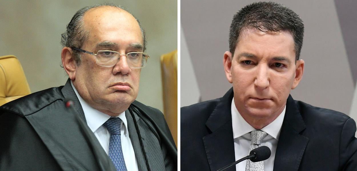 Gilmar Mendes e Glenn Greenwald