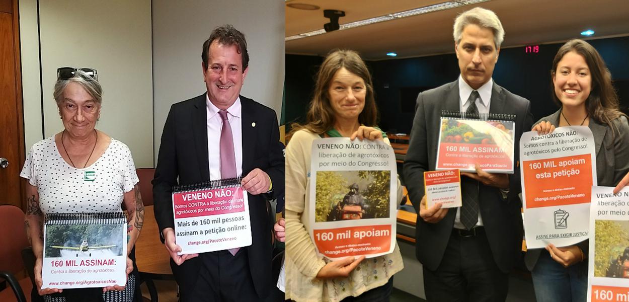 Congresso recebe 160 mil assinaturas contra liberação de agrotóxicos
