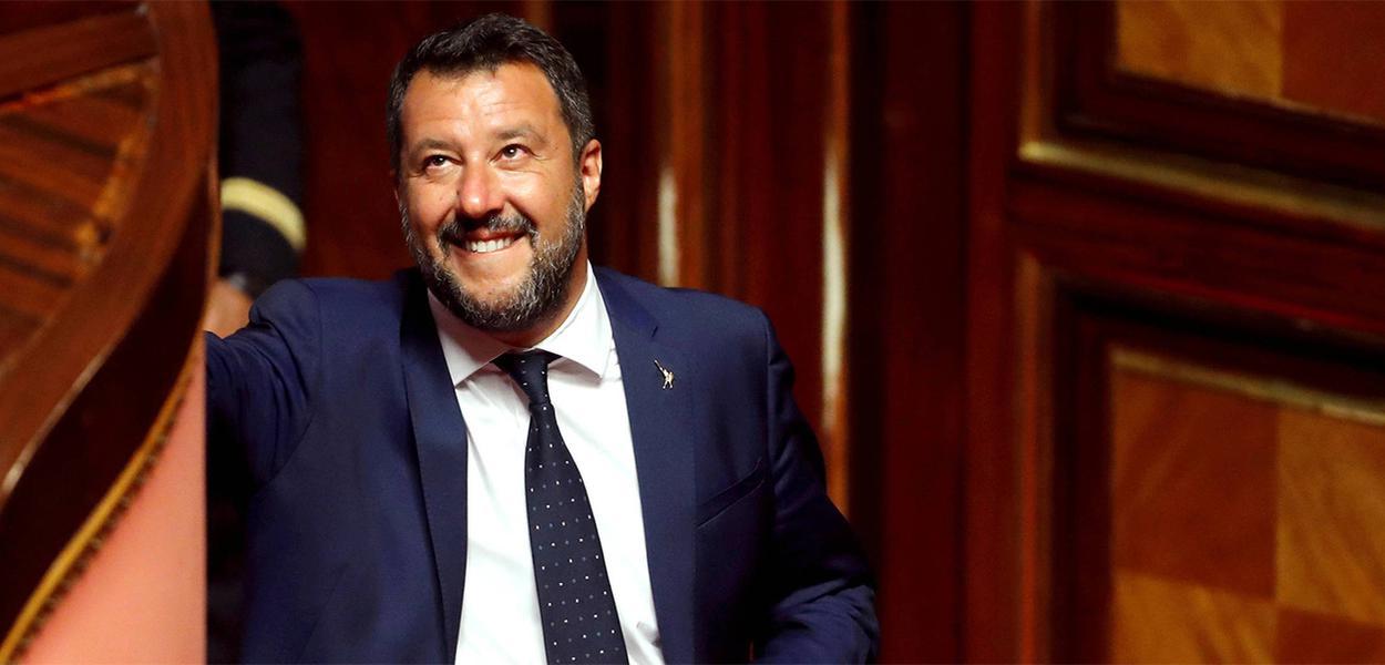Matteo Salvini, líder do principal partido governista e vice-primeiro-ministro da Itália