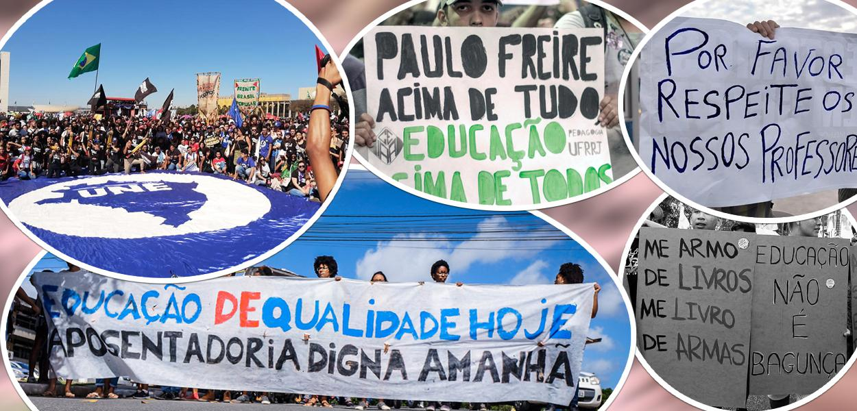 Manifestações contra cortes na Educação