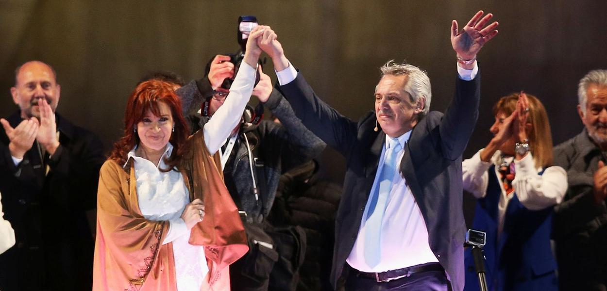 Alberto e Cristina Fernández, presidente e vice da Argentina