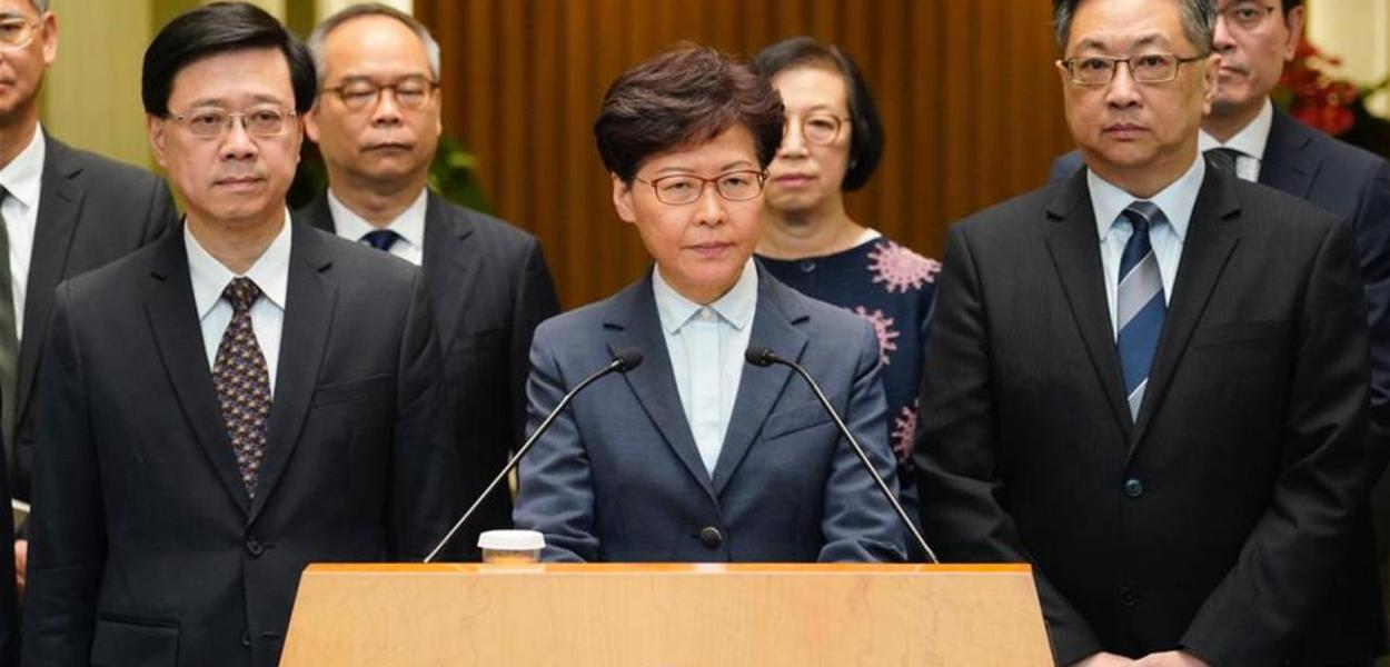 Carrie Lam, governadora de Hong Kong