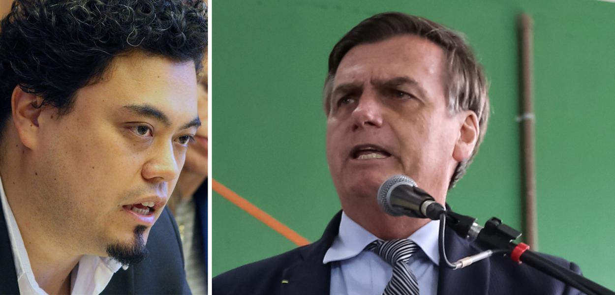 Leonardo Sakamoto e Jair Bolsonaro