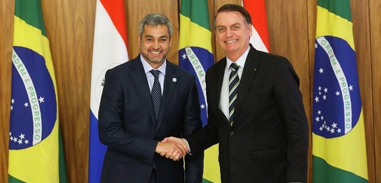 Mario Abdo Benitez e Bolsonaro