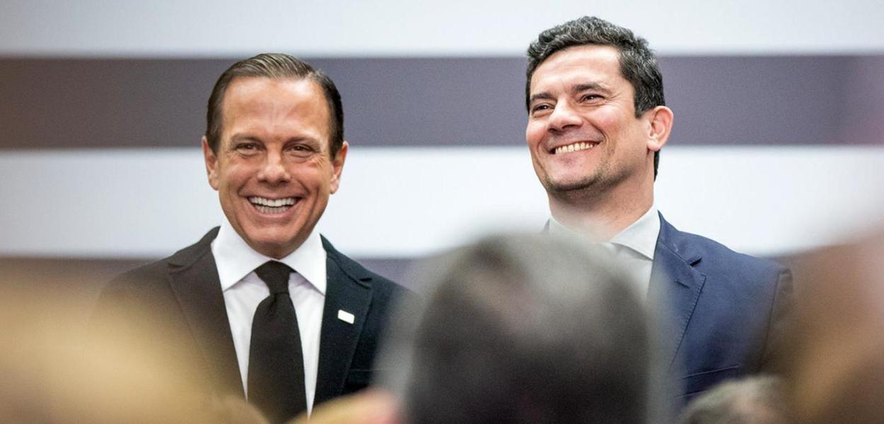 João Doria e Sergio Moro