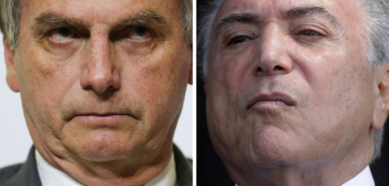 Jair Bolsonaro e Michel Temer: governos de patrões