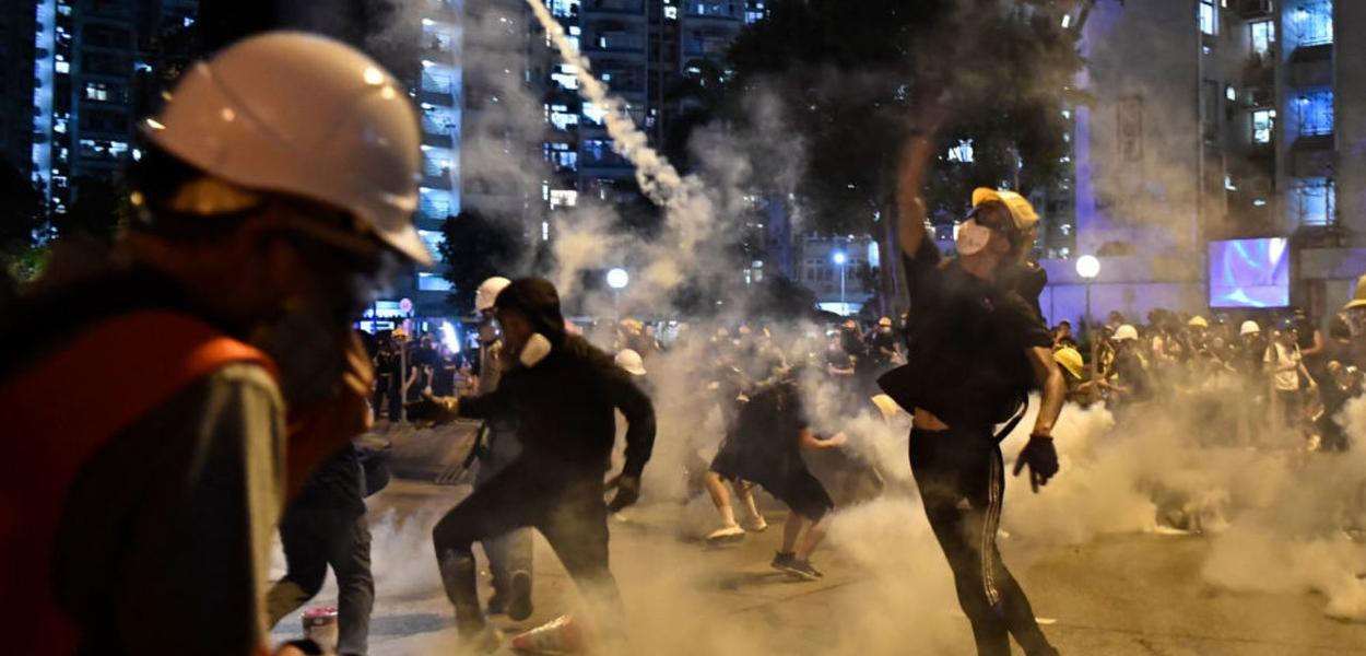 Violência em Hong Kong