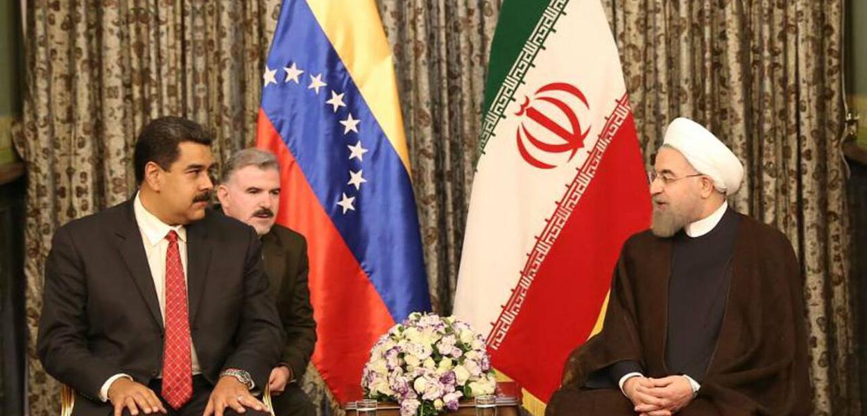 Os presidentes Maduro e Rohani