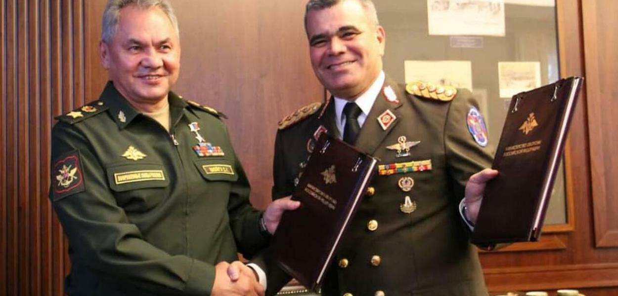 Sergey Shoigú (E) e Padrino López