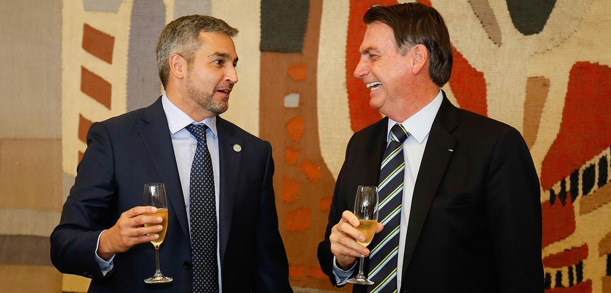 Jair Bolsonaro e  Presidente do Paraguai, Mario Abdo Benítez