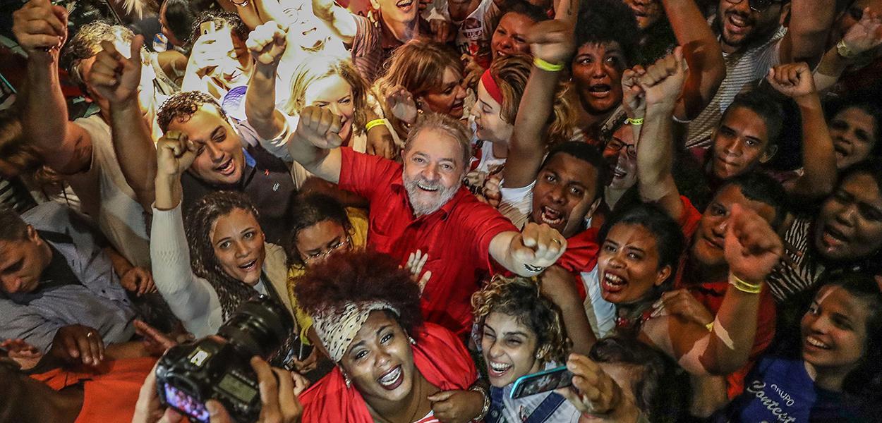 Ex-presidente Lula durante visita ao Museu Cais do Sertão, em Recife.