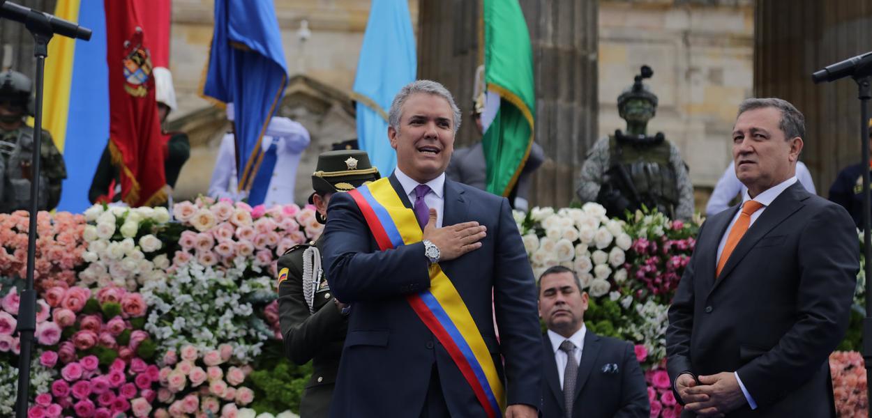 Presidente Iván Duque em sua posse